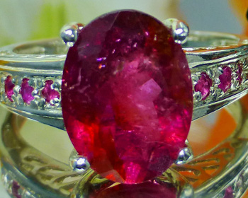 Tourmaline Rubellite  Valuation Report 86101, 2.72 cts.