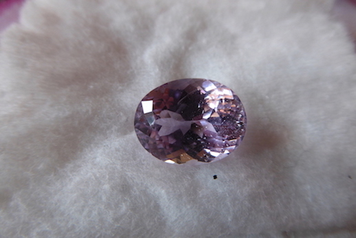 Kunzite  Valuation Report 106633, 12.00 cts.